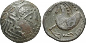 "EASTERN EUROPE. Imitations of Philip II of Macedon (2nd century BC). ""Tetradrachm"". Mint in the northern Carpathian region. ""Schnabelpferd"" type"