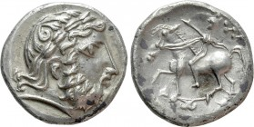 "EASTERN EUROPE. Imitations of Philip II of Macedon (2nd century BC). Tetradrachm. Mint in the southern Carpathian region. ""W-reiter Type"""