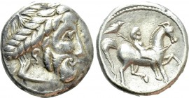 "EASTERN EUROPE. Imitations of Philip II of Macedon (3rd century BC). Tetradrachm. ""Verkehrter Lorbeerkranz Type"""