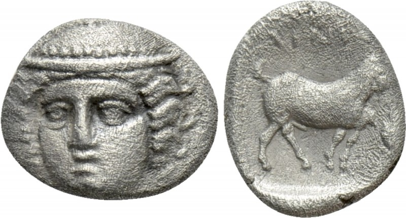 THRACE. Ainos. Diobol (Circa 400-350 BC). 