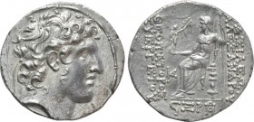 SELEUKID KINGDOM. Alexander I Balas (152-145 BC). Tetradrachm. Antioch on the Orontes. Dated SE 166 (147/6 BC)