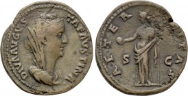 DIVA FAUSTINA I (Died 140/1). As. Rome. Struck under Antoninus Pius