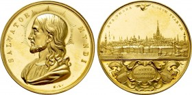 AUSTRIAN EMPIRE. Vienna. GOLD Award Medal of 6 Ducats Weight (after 1843). By K. Lange
