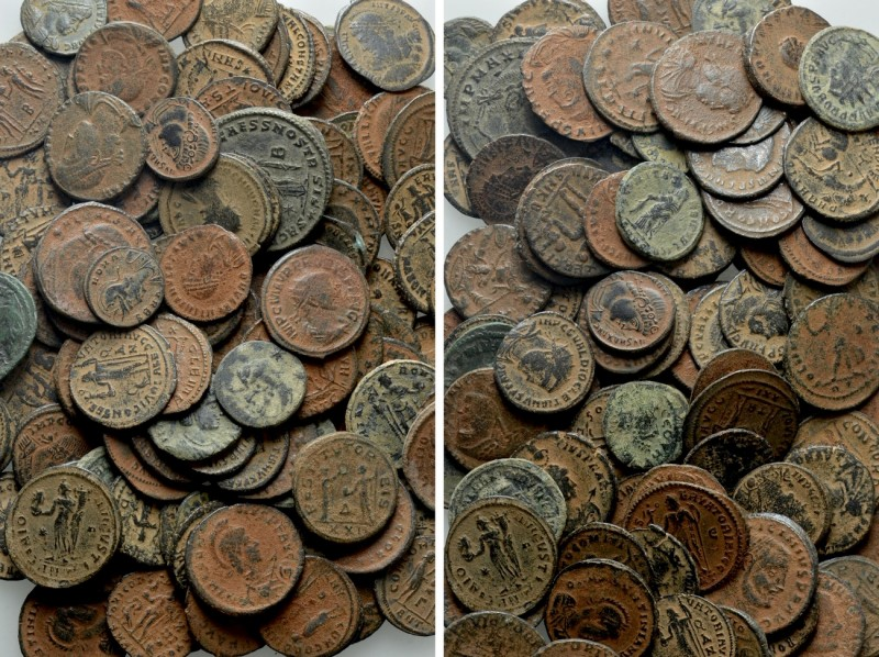 Circa 100 Roman Coins.   Obv: . Rev: .  .   Condition: See picture.  We...