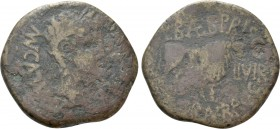 HISPANIA. Tarraconensis. Calagurris. Augustus (27 BC-14 AD). As. L. Baeb. Priscus and C. Gran. Brocchus, Duoviri