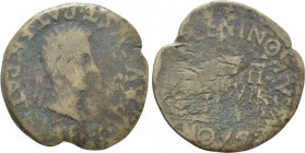 HISPANIA. Tarraconensis. Calagurris. Augustus (27 BC-14 AD). As. L. Novus and L. Valentinus, Duoviri