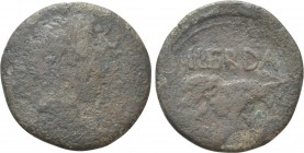 HISPANIA. Tarraconensis. Lepida-Celsa. Augustus (27 BC-14 AD). As. C. Pompeius and Cn. Domitius, duoviri, 5-3 BC