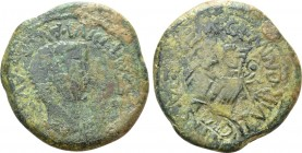 HISPANIA. Tarraconensis. Saguntum. Tiberius (14-37). As. L. Sempronius Geminus and L. Valerius Sura, duoviri