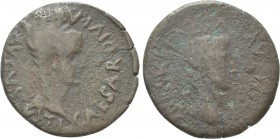 HISPANIA. Tarraconensis. Tarraco. Tiberius with Divus Augustus (14-37). As