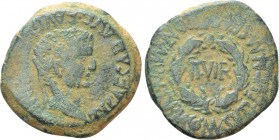 HISPANIA. Tarraconensis. Turiaso. Tiberius (14-37). As. M. Semp. Front. and Mn. Sulp. Lucan., duoviri