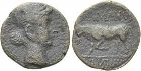 GAUL. Gallia Narbonensis. Uncertain mint. Time of Augustus (27 BC-AD 14). Ae. Germanus Indutilli L., magistrate, circa 10 BC