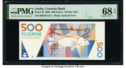 Aruba Centrale Bank 500 Florin 2003 Pick 20 PMG Superb Gem Unc 68 EPQ.   HID09801242017  © 2020 Heritage Auctions | All Rights Reserved