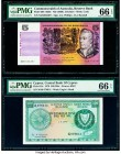 Australia Commonwealth of Australia Reserve Bank 5 Dollars ND (1969) Pick 39b R203 PMG Gem Uncirculated 66 EPQ; Cyprus Central Bank of Cyprus 500 Mils...