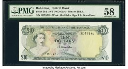 Bahamas Central Bank 10 Dollars 1974 Pick 38a PMG Choice About Unc 58.   HID09801242017  © 2020 Heritage Auctions | All Rights Reserved