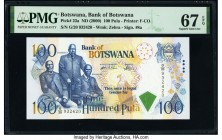Botswana Bank of Botswana 100 Pula ND (1999-2000) Pick 23a PMG Superb Gem Unc 67 EPQ.   HID09801242017  © 2020 Heritage Auctions | All Rights Reserved...