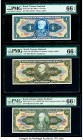 Brazil Tesouro Nacional Group Lot of 8 Graded Examples PMG Gem Uncirculated 65 EPQ; Gem Uncirculated 66 EPQ (5); Superb Gem Unc 67 EPQ (2).   HID09801...