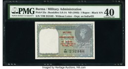 Burma Military Administration 1 Rupee ND (1945) Pick 25a Jhun5.9.1A PMG Extremely Fine 40.   HID09801242017  © 2020 Heritage Auctions | All Rights Res...