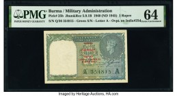 Burma Military Administration 1 Rupee 1940 (ND 1945) Pick 25b Jhun5.9.1B PMG Choice Uncirculated 64.   HID09801242017  © 2020 Heritage Auctions | All ...