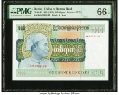 Burma Union of Burma Bank 100 Kyats ND (1976) Pick 61 PMG Gem Uncirculated 66 EPQ.   HID09801242017  © 2020 Heritage Auctions | All Rights Reserved
