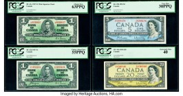 Canada Bank of Canada Group Lot of 18 Graded Examples.   HID09801242017  © 2020 Heritage Auctions | All Rights Reserved