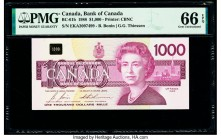 Canada Bank of Canada $1000 1988 Pick 100b BC-61b PMG Gem Uncirculated 66 EPQ.   HID09801242017  © 2020 Heritage Auctions | All Rights Reserved