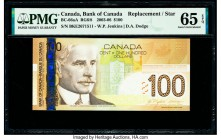 Canada Bank of Canada $100 2003-06 Pick 105c BC-66aA Replacement PMG Gem Uncirculated 65 EPQ.   HID09801242017  © 2020 Heritage Auctions | All Rights ...