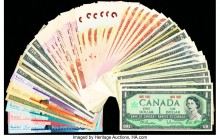 Canada & Dominican Republic Group Lot of 50 Examples Very Good-Crisp Uncirculated.   HID09801242017  © 2020 Heritage Auctions | All Rights Reserved