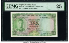 Ceylon Central Bank of Ceylon 10 Rupees 20.1.1951 Pick 48 PMG Very Fine 25.   HID09801242017  © 2020 Heritage Auctions | All Rights Reserved