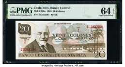Costa Rica Banco Central de Costa Rica 20 Colones 28.6.1983 Pick 252a PMG Choice Uncirculated 64 EPQ.   HID09801242017  © 2020 Heritage Auctions | All...