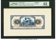 El Salvador Banco Occidental 2 Colones ND (1920) Pick S193fp Front Proof PMG Choice Uncirculated 63.   HID09801242017  © 2020 Heritage Auctions | All ...