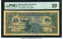 Ethiopia Bank of Ethiopia 50 Thalers 1.5.1932 Pick 9 PMG Very Fine 20. Pinholes and stains.   HID09801242017  © 2020 Heritage Auctions | All Rights Re...
