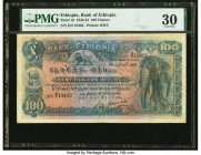 Ethiopia Bank of Ethiopia 100 Thalers 29.4.1933 Pick 10 PMG Very Fine 30. Pinholes.   HID09801242017  © 2020 Heritage Auctions | All Rights Reserved