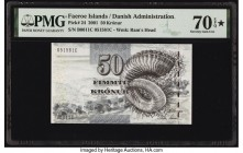Faeroe Islands Foroyar 50 Kronur 2001 Pick 24 PMG Seventy Gem Unc 70 EPQ S.   HID09801242017  © 2020 Heritage Auctions | All Rights Reserved