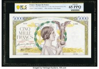 France Banque de France 5000 Francs 9.7.1942 Pick 97c PCGS Gem UNC 65 PPQ.   HID09801242017  © 2020 Heritage Auctions | All Rights Reserved
