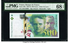 France Banque de France 500 Francs 1994-95 Pick 160a PMG Superb Gem Unc 68 EPQ.   HID09801242017  © 2020 Heritage Auctions | All Rights Reserved