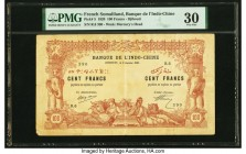 French Somaliland Banque de l'Indochine, Djibouti 100 Francs 2.1.1920 Pick 5 PMG Very Fine 30.   HID09801242017  © 2020 Heritage Auctions | All Rights...