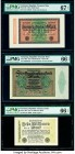 Germany Imperial Bank Note 20,000; 500,000 Mark; 10 Millionen Mark 20.2.1923; 1.5.1923; 22.8.1923 Pick 85b; 88a; 106c Three Examples PMG Superb Gem Un...