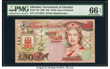 Gibraltar Government of Gibraltar 50 Pounds 2006 Pick 34a PMG Gem Uncirculated 66 EPQ.   HID09801242017  © 2020 Heritage Auctions | All Rights Reserve...