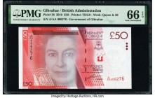 Gibraltar Government of Gibraltar 50 Pounds 1.1.2010 Pick 38 PMG Gem Uncirculated 66 EPQ.   HID09801242017  © 2020 Heritage Auctions | All Rights Rese...