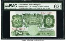 Great Britain Bank of England 1 Pound ND (1955-60) Pick 369c PMG Superb Gem Unc 67 EPQ.   HID09801242017  © 2020 Heritage Auctions | All Rights Reserv...