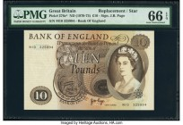 Great Britain Bank of England 10 Pounds ND (1970-75) Pick 376c* Replacement PMG Gem Uncirculated 66 EPQ.   HID09801242017  © 2020 Heritage Auctions | ...