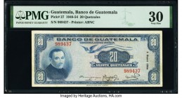 Guatemala Banco de Guatemala 20 Quetzales 5.1.1954 Pick 27 PMG Very Fine 30.   HID09801242017  © 2020 Heritage Auctions | All Rights Reserved