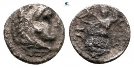 "Kings of Macedon. Uncertain eastern mint. Alexander III ""the Great"" 336-323 BC. Obol AR"