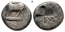Thrace. Byzantion circa 340-320 BC. Hemidrachm AR