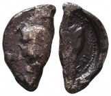 Archaic Style Silver Coin Fragment ! Condition: Very Fine    Weight: 3,4 gr Diameter: 22 mm