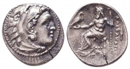 Kings of Macedon. Alexander III 'the Great' (336-323 BC). AR Drachm Condition: Very Fine    Weight: 3,9 gr Diameter: 18 mm