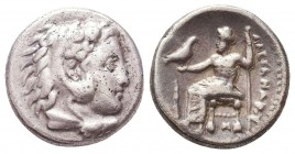 Kings of Macedon. Alexander III 'the Great' (336-323 BC). AR Drachm Condition: Very Fine    Weight: 4,1 gr Diameter: 15 mm