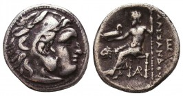Kings of Macedon. Alexander III 'the Great' (336-323 BC). AR Drachm Condition: Very Fine    Weight: 4,0 gr Diameter: 18 mm