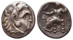 Kings of Macedon. Alexander III 'the Great' (336-323 BC). AR Drachm Condition: Very Fine    Weight: 4,1 gr Diameter: 17 mm