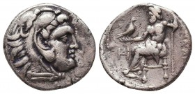 Kings of Macedon. Alexander III 'the Great' (336-323 BC). AR Drachm Condition: Very Fine    Weight: 4,0 gr Diameter: 17 mm